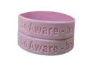 1 inch debossed wristband