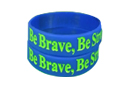 1 inch deboss filled wristband