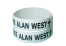 1 inch imprinted wristband