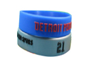 1 inch color embossed wristband